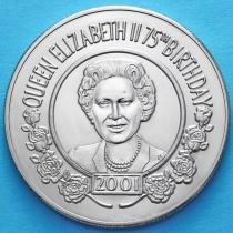 Остров Святой Елены 50 пенсов 2001 год. 75 лет Елизавете II