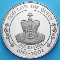 Остров Святой Елены 50 пенсов 2002 год. 50 лет правления Елизаветы II