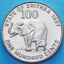 Эритрея 100 центов 1997 год. Слон