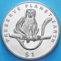 Эритрея 1 доллар 1994 год. Обезьяна Колобус