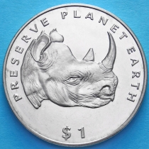 Эритрея 1 доллар 1994 год. Носорог