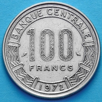 Габон 100 франков 1972 год.