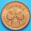 Монета Гана 1/2 песевы 1967 год.