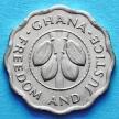 Монета Ганы 2,5 песевы 1967 год.