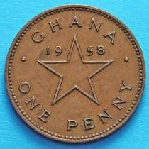 Гана 1 пенни 1958 год.