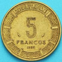 Гвинея Экваториальная 5 франков 1985 год.