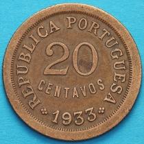 Гвинея Португальская 20 сентаво 1933 год.