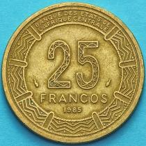 Гвинея Экваториальная 25 франков 1985 год.