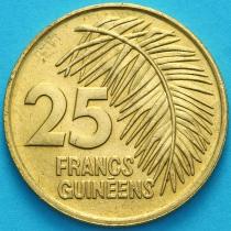 Гвинея 25 франков 1987 год.