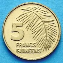 Гвинея 5 франков 1985 год.