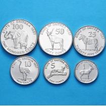 Эритрея набор 6 монет 1997 год.