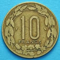 Экваториальная Африка. Камерун 10 франков 1972 год.