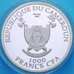 Набор 2 монеты Камеруна 1000 франков 2017 год. ЧМ по футболу. Серебро.