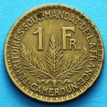 Камерун 1 франк 1926 год.