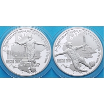 Камерун набор 2 монеты 1000 франков 2017 год. ЧМ по футболу.  №3. Серебро.