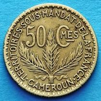 Камерун 50 сантимов 1924 год.