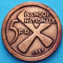 Катанга 5 франков 1961 год. Райский банан