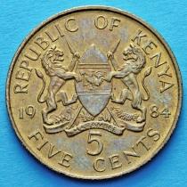 Кения 5 центов 1984 год.