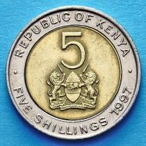 Кения 5 шиллингов 1995-1997 год