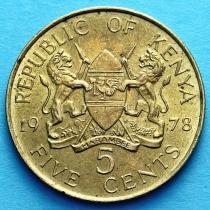 Кения 5 центов 1978 год