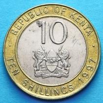 Кения 10 шиллингов 1994-2010 год.