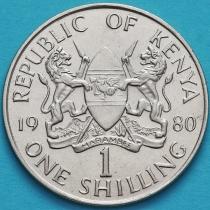 Кения 1 шиллинг 1980-1989 год.