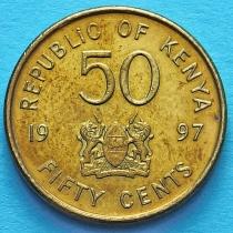Кения 50 центов 1997 год.