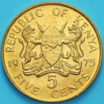 Кения 5 центов 1975 год.