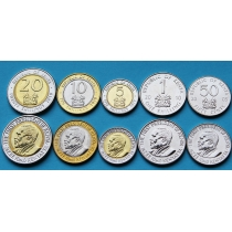 Кения набор 5 монет 2005-2010 год.