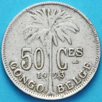 Бельгийское Конго 50 сантим 1923 год. Французский вариант.