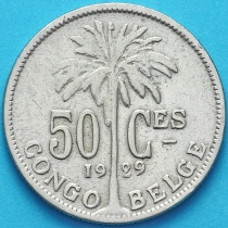 Бельгийское Конго 50 сантим 1929 год. Французский вариант.