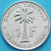 Бельгийское Конго (Руанда-Урунди) 1 франк 1957 год. VF/F