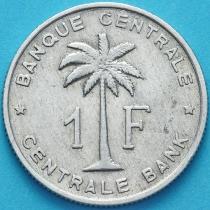 Бельгийское Конго (Руанда-Урунди) 1 франк 1960 год. VF/F
