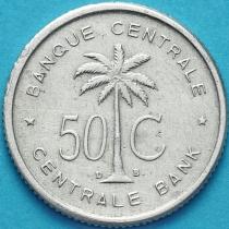 Бельгийское Конго (Руанда-Урунди) 50 сантим 1954 год. VF.