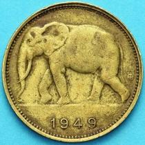 Бельгийское Конго 1 франк 1949 год. Слон.