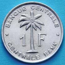 Бельгийское Конго (Руанда-Урунди) 1 франк 1957 год. XF+.
