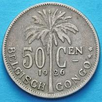 Бельгийское Конго 50 сантим 1923-1926 год. Фламандский вариант.
