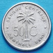 Бельгийское Конго (Руанда-Урунди) 50 сантим 1954-1955 год. XF.