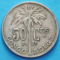 Бельгийское Конго 50 сантим 1921-1929 год. Французский вариант.