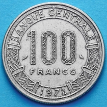 Конго 100 франков 1972 год.