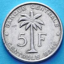 Бельгийское Конго 5 франков 1956-1958 год.