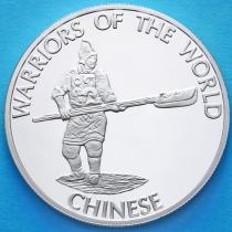 Конго 10 франков 2010 год. Китайский воин.
