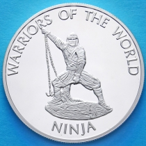 Конго 10 франков 2010 год. Ниндзя.