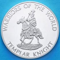 Конго 10 франков 2010 год. Рыцарь ордена Тамплиеров.
