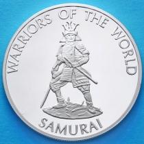 Конго 10 франков 2010 год. Самурай.