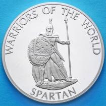 Конго 10 франков 2010 год. Спартанец.
