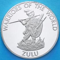 Конго 10 франков 2010 год. Зулусский воин.