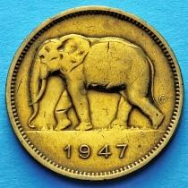 Бельгийское Конго 2 франка 1947 год. Слон
