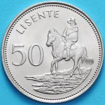 Лесото 50 лисенте 1983 год. Всадник.