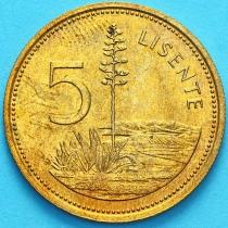 Лесото 5 лисенте 1979 год.